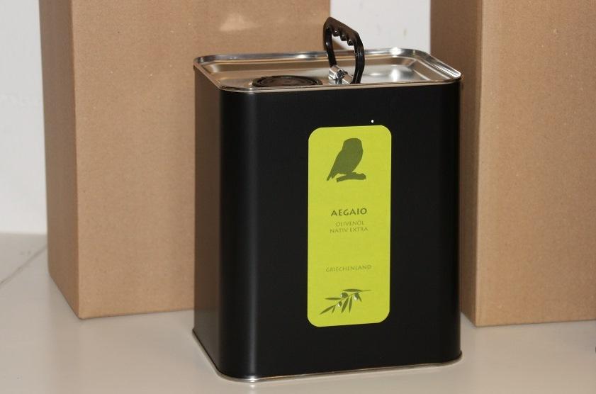 Fruchtiges Olivenöl aus Lesbos im 3L Kanister