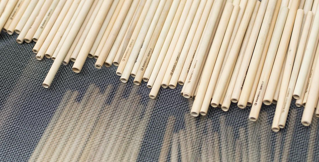 Fertige MAKASI Bambus-Strohhalme