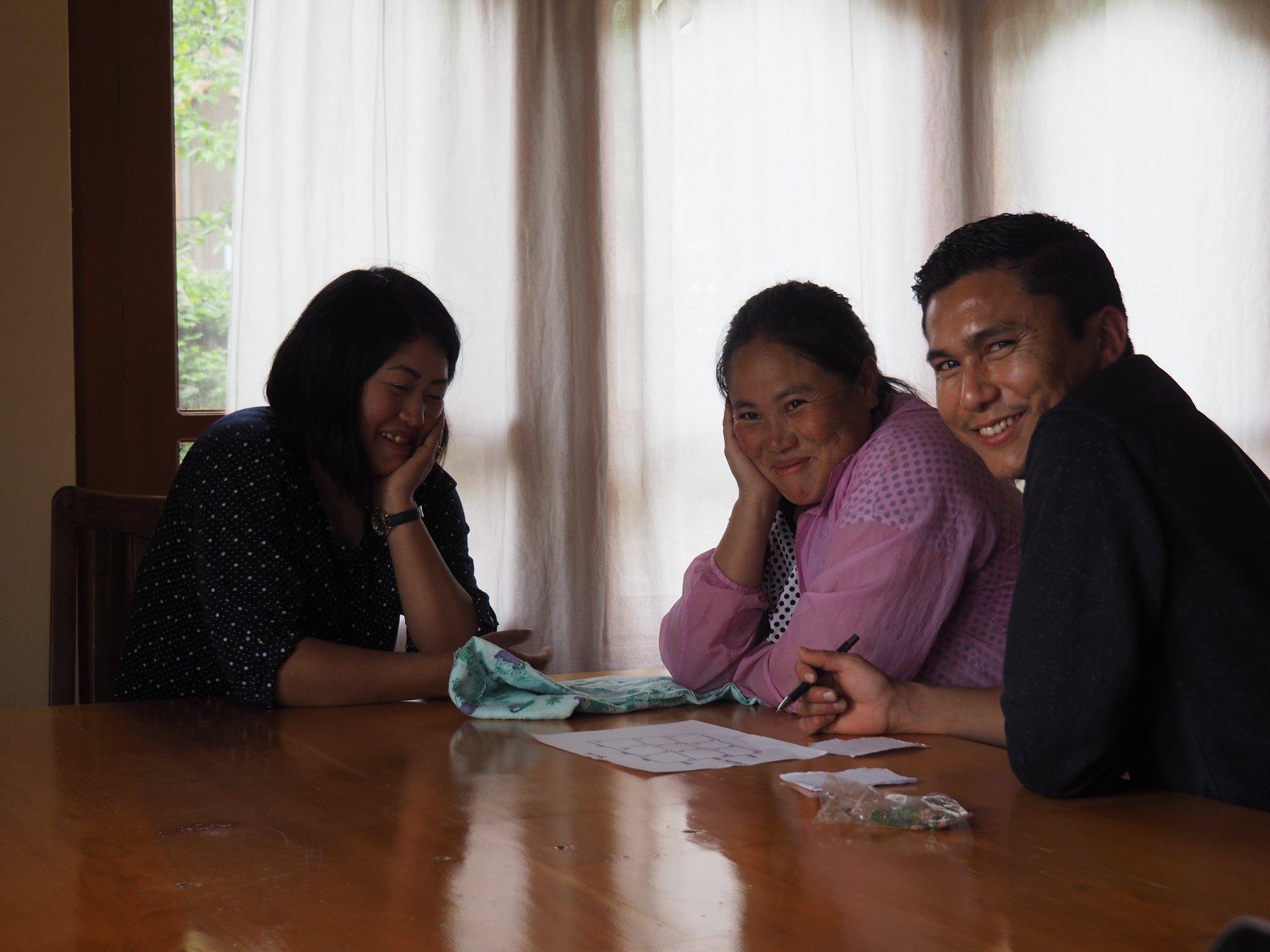 Workshop: Choki und Wangchuck mit Lhasang vom Druk Metho Team.