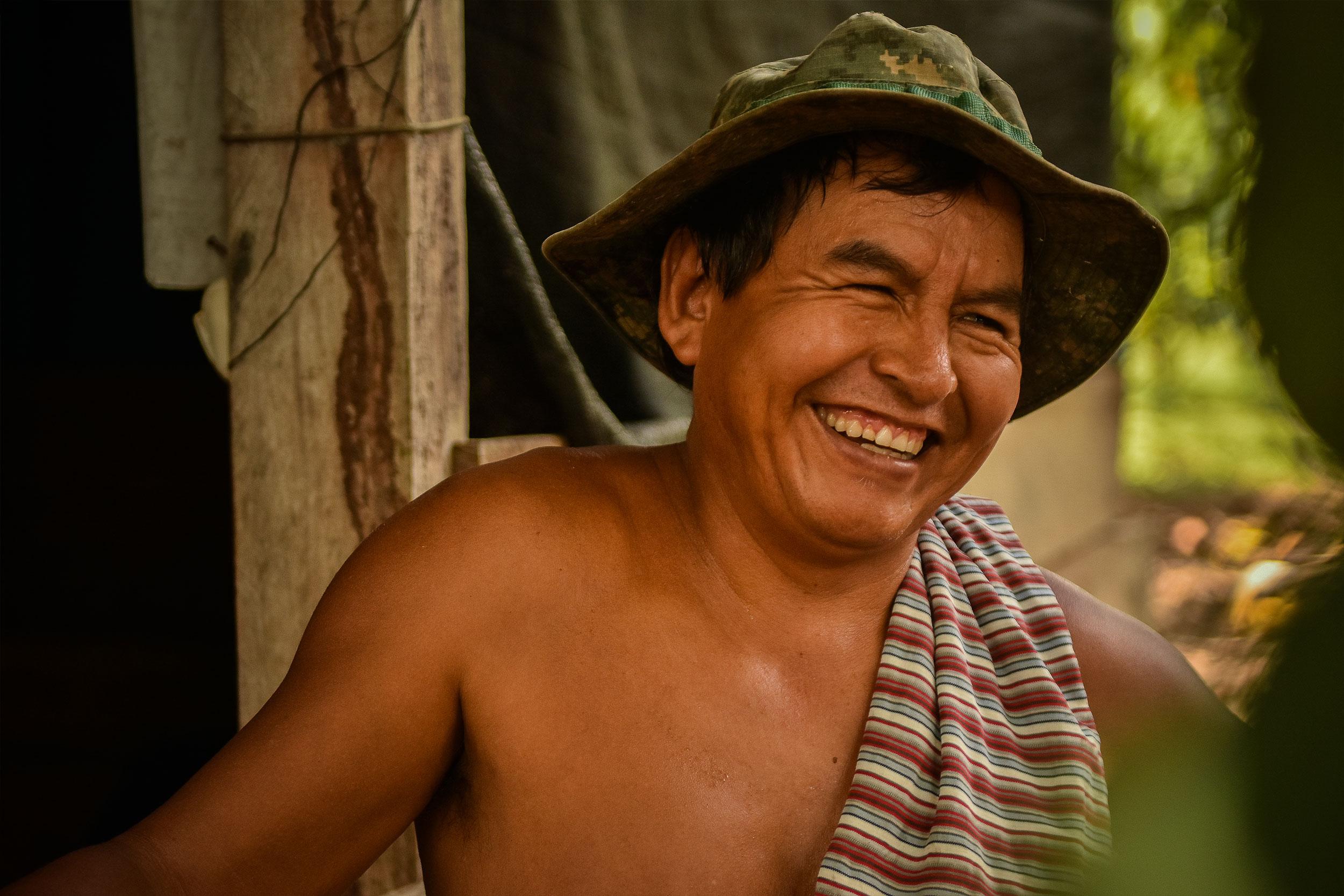 Viktor Suny est un cultivateur de cacao d'Agrobosque.