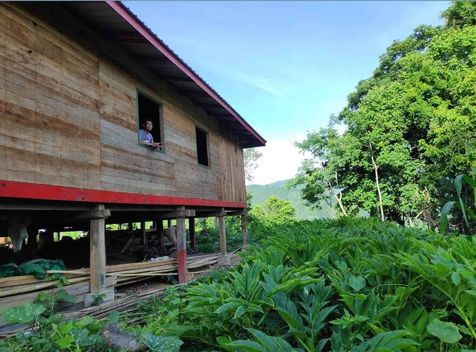 Our coffee farmhouse on the wild coffee hills of Chin State