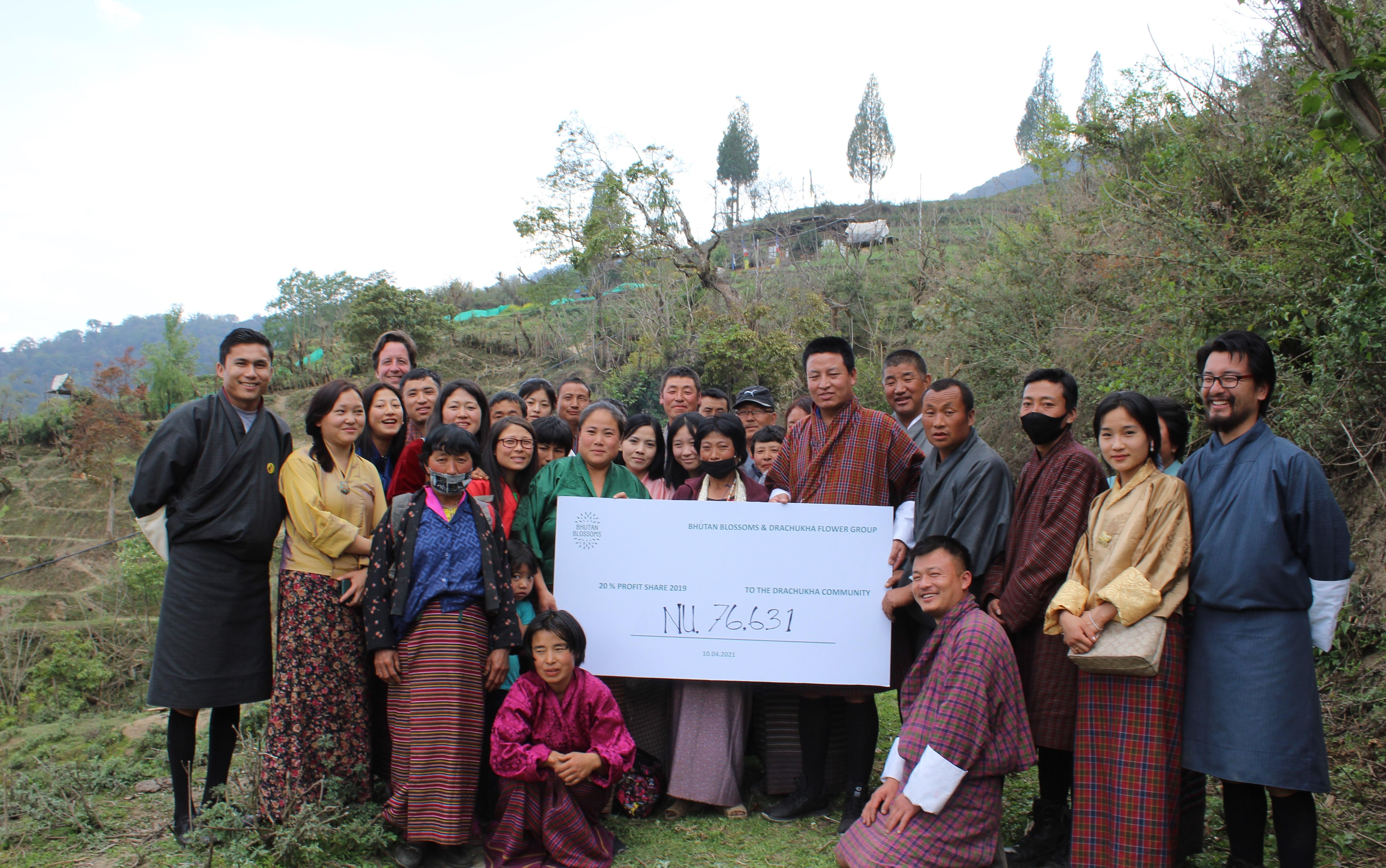 Bhutan Blossoms teilt den Profit mit der Drachukha Community.