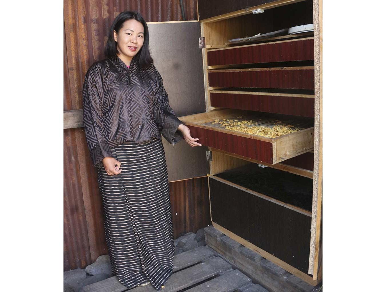 ...und im Elektrotrockner schonend getrocknet (Fotos: Cheku Rangdrel)